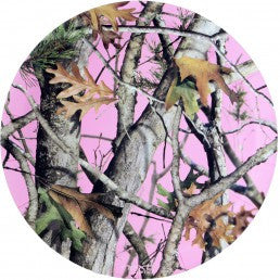 Pink Camo Round Plates - nyea's Party Store