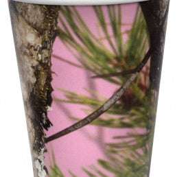 Next Pink Camo 12oz Cups - nyea's Party Store