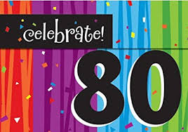 Celebrate Milestone 80 Birthday Invites