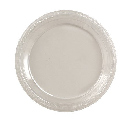 "Clear 7"" Plastic Lunch Plates - Solid - nyea's Party Store"