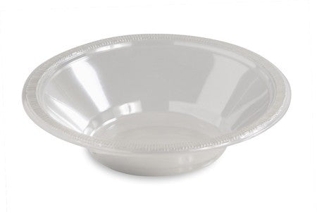 Clear 12 Oz. Plastic Bowl - nyea's Party Store