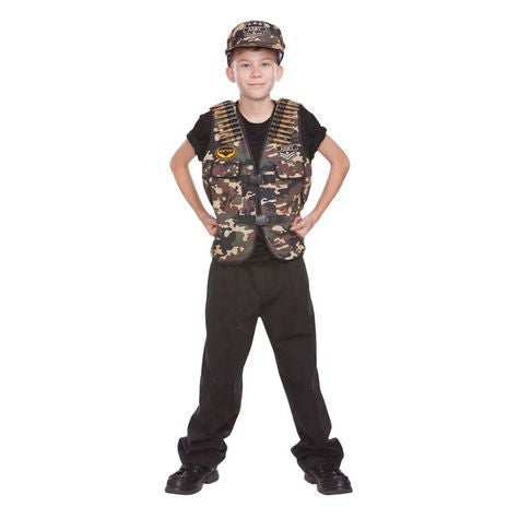 Combat Captain Vest & Hat Halloween - nyea's Party Store