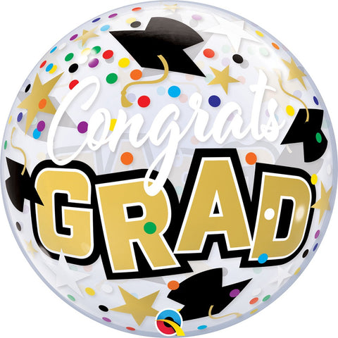 "22"" congrats grad stars bubble Balloon"