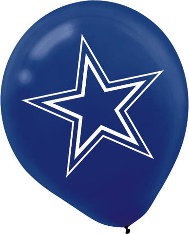 "12"" Dallas Cowboys NFL Latex Balloons"