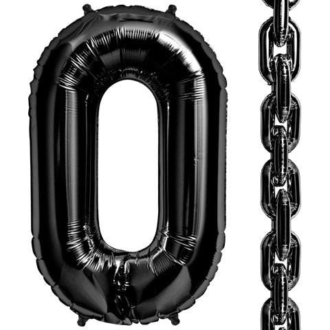 "34"" DecoLink Black Links Foil Balloon"