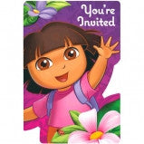 Dora the Explorer Invitations - nyea's Party Store