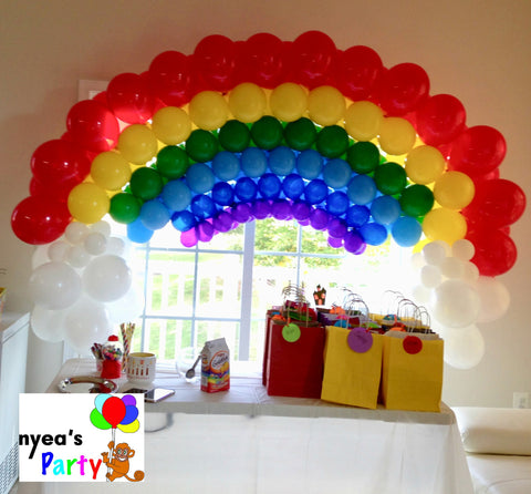 Rainbow Balloon Arch - nyea's Party Store