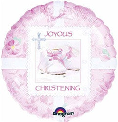 18 inch Packaged Foil Tiny Blessing Girl Christening Foil Balloon - Nyea's Party Store