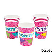 Paper Neon Graduation Cups - nyea's Party Store