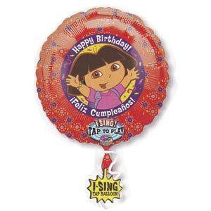 "28"" Foil  Dora The Explorer Happy Birthday Singing Balloon"