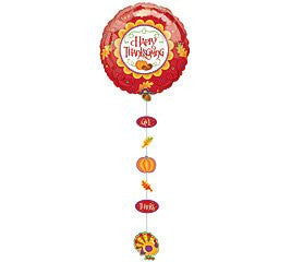 "24""Happy Thanksgiving drop a line Mylar Balloon - nyea's Party Store"