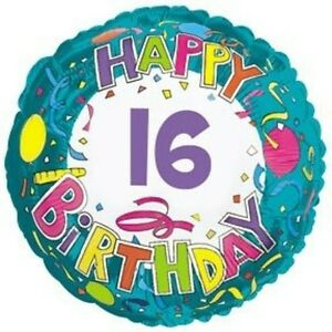 "18"" Happy 16 Birthday Foil Balloon"