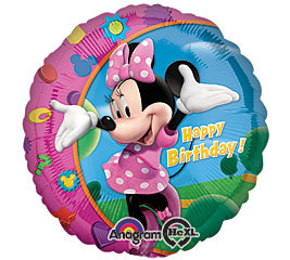 "17"" Happy Birthday Day  MINNIE Foil Balloon"