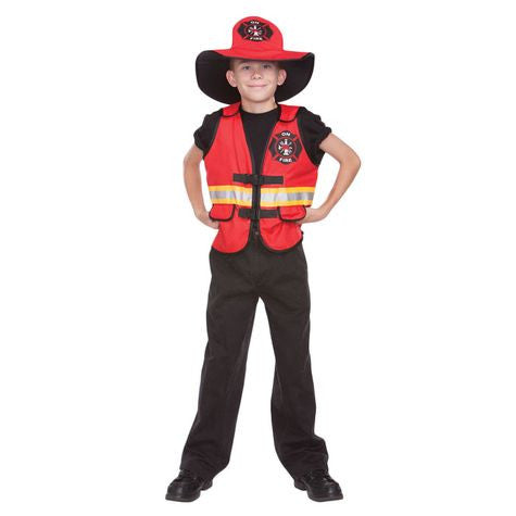 Inferno Fireman Vest & Hat Halloween - nyea's Party Store