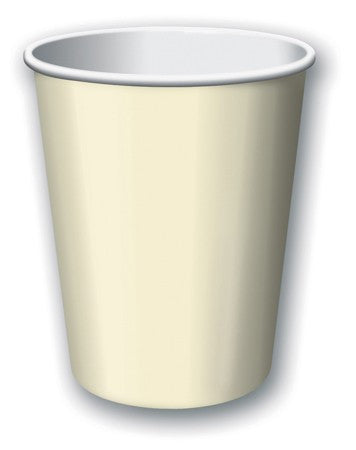 Ivory Solid 9 Oz Hot/Cold Cup - nyea's Party Store