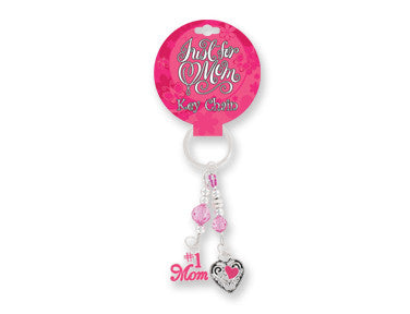Just for Mom Beaded Dangle Keychain - nyea's Party Store