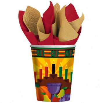 Kwanzaa 9 Ounce Cups - nyea's Party Store