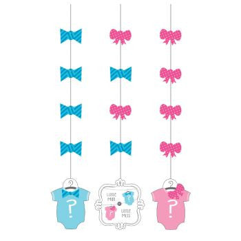 Bow Or Bowtie Hanging Cutouts - nyea's Party Store