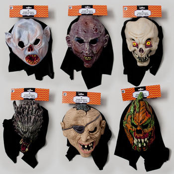 Halloween Deluxe Realistic Mask With Hood - nyea's Party Store