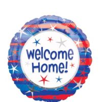 "18"" Welcome Home Patriotic Foil Balloon"