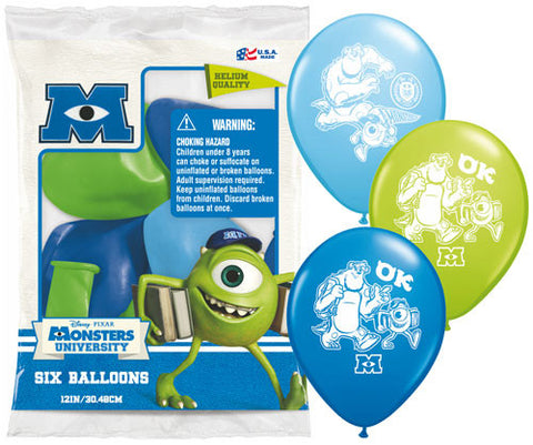 "12"" Asst Monsters University Latex Balloons"