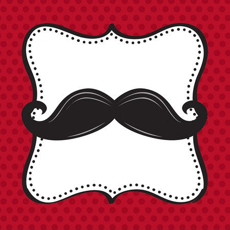 Mustache Themed Beverage Napkins - nyea's Party Store