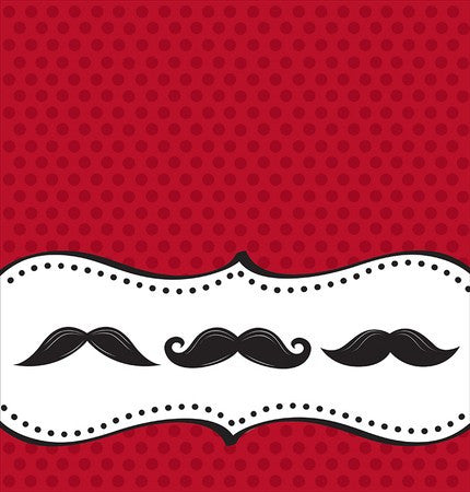 Plastic Table Cover with Mustache Design - nyea's Party Store