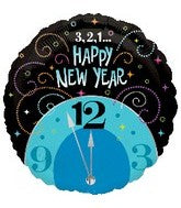 "18"" Happy New Years 3,2,1 Foil Balloon"