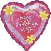 "34"" Whimsical heart happy valentines day Foil Balloon"