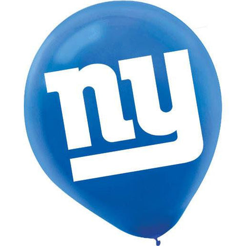 "12"" NFL New York Giants Latex Balloons"