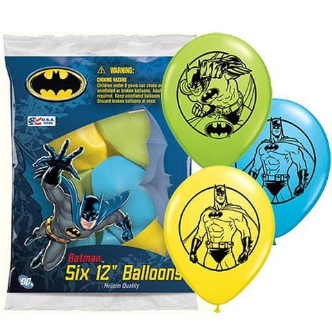 Batman Pr Latex Balloons - nyea's Party Store