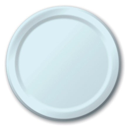 Pastel Blue 7 inches Lunch/Dessert Paper Plates - nyea's Party Store