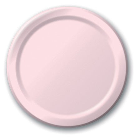Classic Pink 7 inches Lunch/Dessert Paper Plates - nyea's Party Store