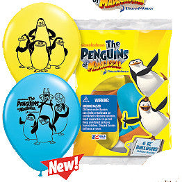 "12"" Penguins Of Madagascar Latex Balloons"