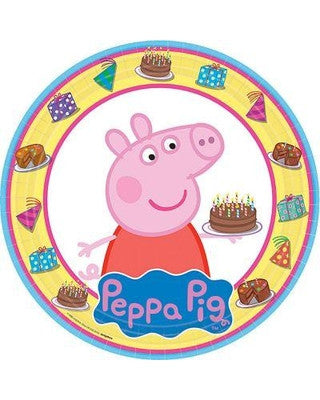 "9"" Round Plate Peppa Pig - nyea's Party Store"