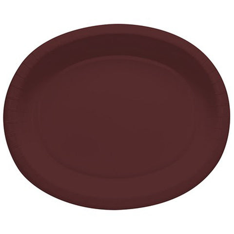Brown 10 x 12 inches Oval Platters - nyea's Party Store