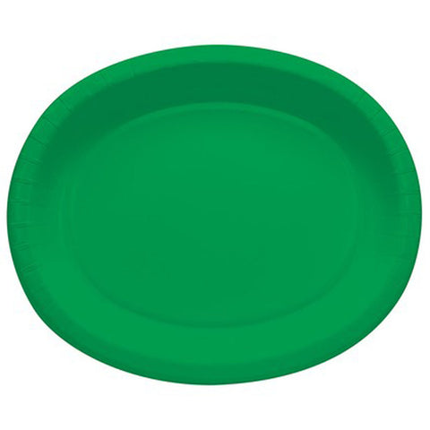 Green 10 x 12 inches Oval Platters - nyea's Party Store