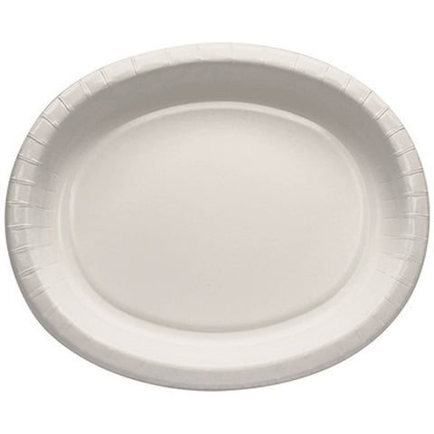 White 10 x 12 inches Oval Platter - nyea's Party Store