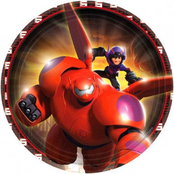 "©Disney Big Hero 6 7"" Round Plates - nyea's Party Store"