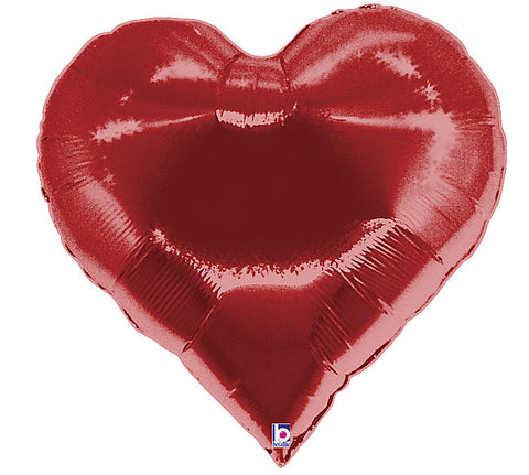 "30"" Red Casino Heart Shaped Foil Balloon"