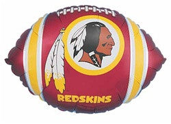 18 inch Washington Redskins Football  Foil Balloon - Nyea's Party Store
