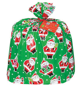 Jumbo Plastic Santa Gift Bag - nyea's Party Store