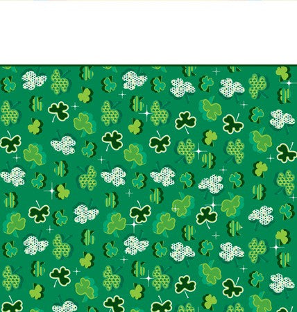 Shamrock Plastic Table Cover - nyea's Party Store