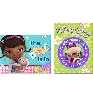 Doc McStuffins Thank You Postcards and Invitations with Envelopes - nyea's Party Store