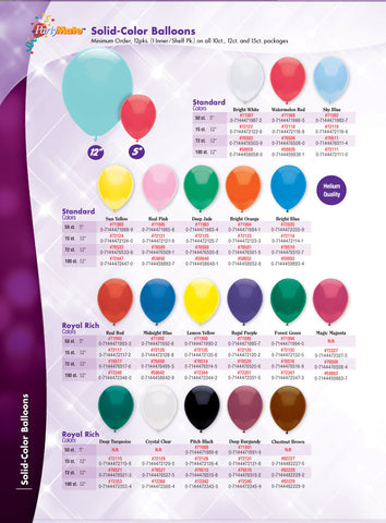 12 inch Bright White Latex Balloons - Nyea's Party Store