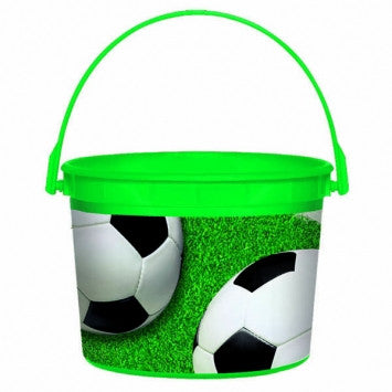 Soccer Plastic Bucket - nyea's Party Store