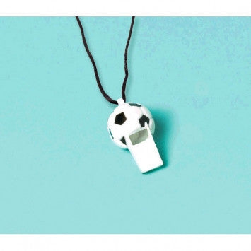 Soccer Ball Mini Whistles 12ct - nyea's Party Store