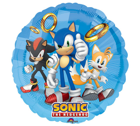 "17""  SONIC THE HEDGEHOG Foil Balloon"