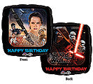 "17"" Pkg Happy Birthday Star Wars Balloon - Nyea's Party Store"