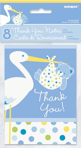Baby Boy Stork Thank You - nyea's Party Store